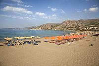 Paleohora village, Pahia Ammos beach, Crete island, Greece, Europe.