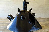 Maternité, 1973, bronze, Joan Miró ,Fundació Pilar i Joan Miró, Palma, Mallorca, Balearic islands, Spain.