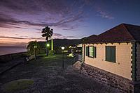 Netherlands, Sint Eustatius, Oranjestad, Fort Oranje, interior, dusk.