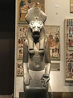 Statue of the goddess Sakmet, 1390 BC, Egypt, Metropolitan Museum of Art. New York City. New York. United States
