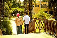 couple at El-Orman garden at Giza, Egypt