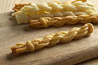 Traditional handmade Slovakian smoked and unsmoked korbacik string Cheese.