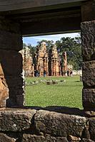 Jesuit mission of San Ignacio Miní, San Ignacio, Misiones, Argentina, South America, America.