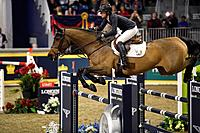 Amy Miller Canada riding Heros in the Longines FEI World Cup Show Jumping competition at the Royal Horse Show Toronto.