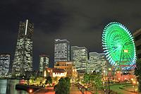 Yokohama at Night, Japan.