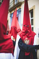 Holy Week procession in Cadiz in Spain's Andalucia.