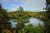 Pink Lake, Gatineau Park, Quebec, Canada.