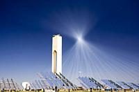 Tower of a solar plant, Seville, Spain.