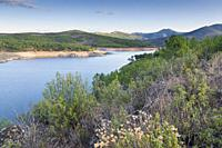 The Atazar reservoir. Madrid. Spain.