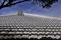Hamahiga Island, Okinawa, Japan: roof of a traditional house
