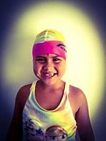 Swimmer little girl.