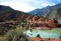 barrage lake Ouirgane in High Atlas, Maroc