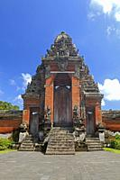 The Paduraksa, the main holy gate to the Holy Temple in Pura Taman Ayun, the royal temple at Mengwi, Badung, Bali, Indonesia. This temple was was buil...