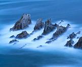 La Gueirúa beach, Santa Marina, Cudillero Council, Cantabrian Sea, Asturias, Spain, Europe.