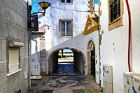 old town of Lagos, here San Goncalo gate - Porta de Sao Goncalo connectiong old town with seaside, beaches and river, Lagos, Algarve , Portugal, Europ...