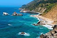 Rugged coastline on the Pacific, Big Sur, California USA.