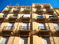Architecture of the historic center, Ruzafa district, Valencia, Spain