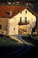 Baserri. Housebarn. Busturia. Urdaibai Biosphere Reserve. Biscay, Basque Country, Spain.