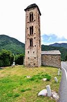 The Romanesque church of Sant Miquel d´Engolasters. Andorra. Europe.