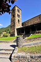 Església de Sant Joan de Caselles, church located in Canillo, Andorra. It is a heritage property registered in the Cultural Heritage of Andorra. It wa...