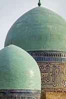 Colourful Domes At The Shah-i-Zinda Mausoleum Complex, Samarkand, Uzbekistan.