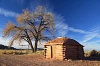 Hogan, Hubbell Trading Post National Historic Site, Arizona.