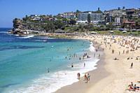 Bronte Beach on a Summers Day, Sydney eastern suburbs,Australia.