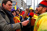 Radio interview, Catalan independence movement, December 2017, Brussels, Belgium