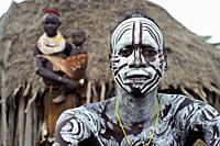 Karo people ( Omo valley, Ethiopia).