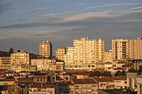 Aerial of Porto in Portugal Europe.