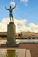 The Sun Singer (1926) by Carl Milles, Helgeandsholmen, Stockholm, Sweden, Scandinavia.