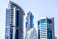 Brand new modern architecture skyline of Business Bay, a business capital as well as a freehold city in Dubai, United Arab Emirates.