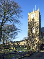 St Michael and All Angels Parish Church in Haworth West Yorkshire England.