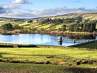 Lower Laithe Reservoir at Stanbury near Haworth West Yorkshire England.