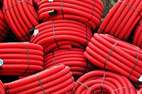 Red plastic tubes