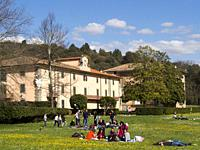 Parco di Villa Demidoff, first seasonal opening of the park. Pratolino, Firenze, Tuscany, Italy