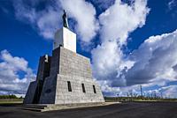 Portugal, Azores, Terceira Island, Praia da Vitoria, monument at the Miradouro de Facho.