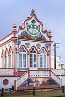 Portugal, Azores, Terceira Island, Sao Sebastiao, Sao Sebastiao Imperio chapel.