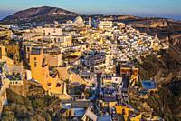 Thira. Fira. Santorini Island. Ciclades Islands. Greece