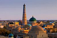 The Skyline Of The Historic City Of Khiva, Khorezm Region, Uzbekistan.