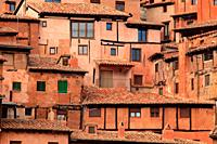 Traditional architecture houses in Albarracín. Teruel.