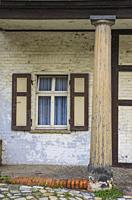 Window and column at the gatehouse of the castle of Quedlinburg, Saxony-Anhalt, Germany.