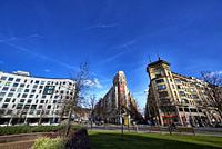 Plaza Euskadi, Bilbao, Bizkaia, Basque Country, Euskadi, Euskal Herria, Spain.