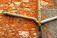 pipes, Darmós, Tivissa, Catalonia, Spain