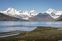 Cordillera Darwin, in Ainsworth Bay, PN Alberto de Agostini, Tierra del Fuego, Patagonia, Chile.