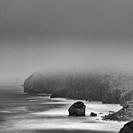 Fog, San Julian beach, Candina Mountain, Montaña Oriental Costera, Liendo, Liendo Valley, Cantabria, Spain, Europe.