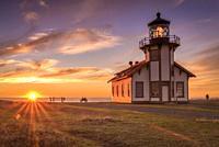 Pacfic Ocean Point Cabrillo Sunset on Mendocino Coast Fort Bragg CA.