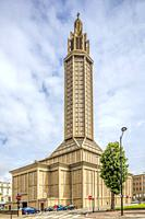 St. Joseph's Church, Le Havre, France, design by Auguste Perret (1951-1958).