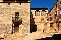 streets and corners of the town of . Monfalco Murallat, la Segarra, LLeida province, Catalonia, Spain.