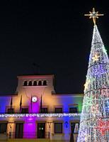 Town hall and christmas tree. San Sebastián de los Reyes. Madrid. Spain.